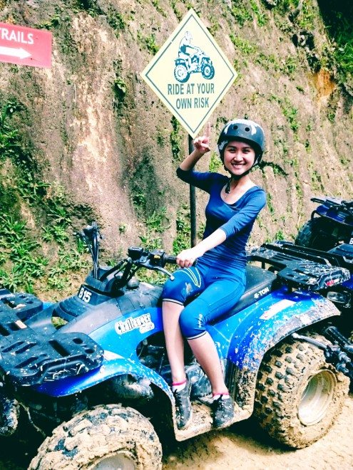 girl on atv ride